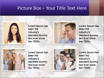 Couple trying on glasses in the shop PowerPoint Template - Slide 14