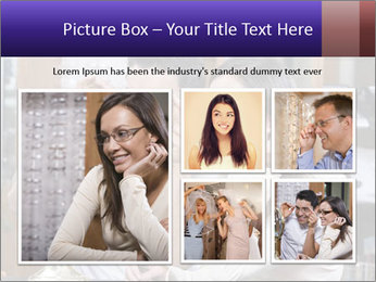 Couple trying on glasses in the shop PowerPoint Template - Slide 19