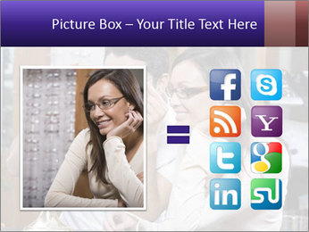 Couple trying on glasses in the shop PowerPoint Template - Slide 21