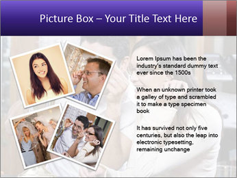 Couple trying on glasses in the shop PowerPoint Template - Slide 23