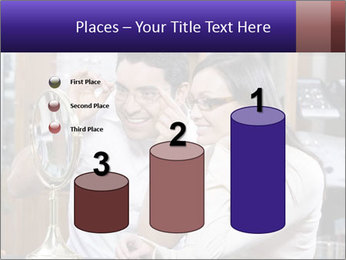 Couple trying on glasses in the shop PowerPoint Template - Slide 65