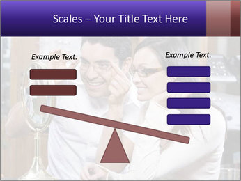 Couple trying on glasses in the shop PowerPoint Template - Slide 89