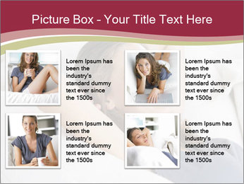 Woman lying on couch PowerPoint Template - Slide 14