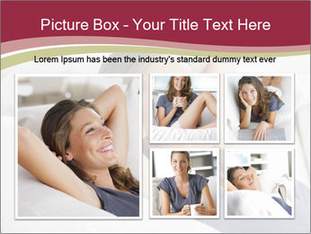 Woman lying on couch PowerPoint Template - Slide 19
