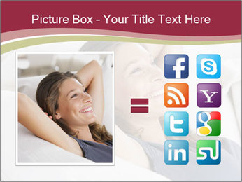 Woman lying on couch PowerPoint Template - Slide 21