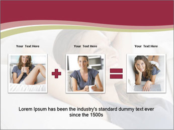 Woman lying on couch PowerPoint Template - Slide 22