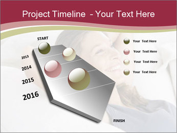 Woman lying on couch PowerPoint Template - Slide 26