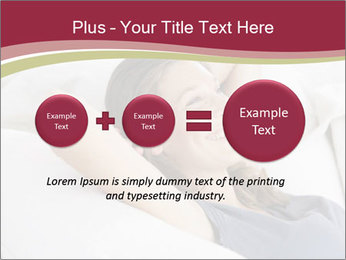 Woman lying on couch PowerPoint Template - Slide 75