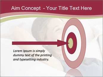 Woman lying on couch PowerPoint Template - Slide 83