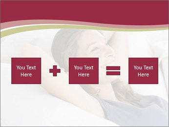 Woman lying on couch PowerPoint Template - Slide 95
