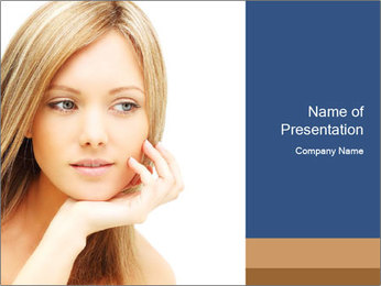 Female face PowerPoint Template