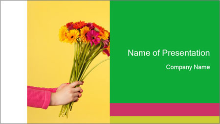 Colorful bouquet PowerPoint Template