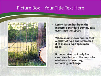 Banjo in a field PowerPoint Template - Slide 13