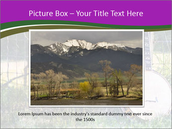 Banjo in a field PowerPoint Template - Slide 15
