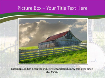 Banjo in a field PowerPoint Template - Slide 16
