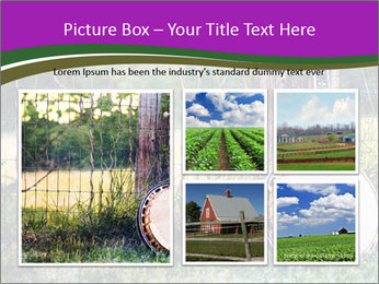 Banjo in a field PowerPoint Template - Slide 19