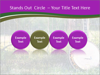 Banjo in a field PowerPoint Template - Slide 76