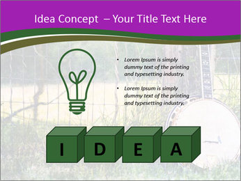 Banjo in a field PowerPoint Template - Slide 80