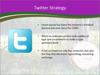 Banjo in a field PowerPoint Template - Slide 9