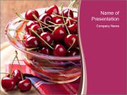 Fresh cherries PowerPoint Template