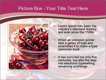 Fresh cherries PowerPoint Template - Slide 13