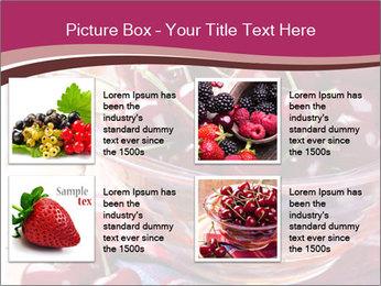 Fresh cherries PowerPoint Template - Slide 14