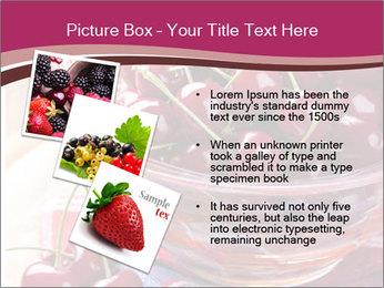 Fresh cherries PowerPoint Template - Slide 17