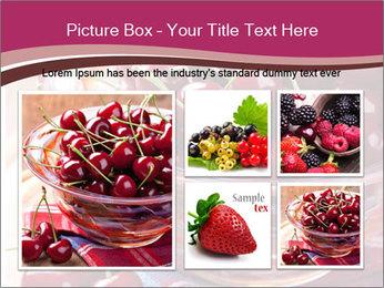 Fresh cherries PowerPoint Template - Slide 19