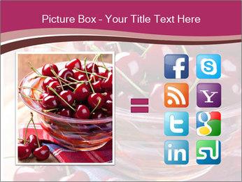 Fresh cherries PowerPoint Template - Slide 21