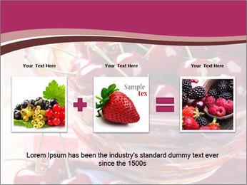 Fresh cherries PowerPoint Template - Slide 22