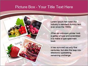 Fresh cherries PowerPoint Template - Slide 23