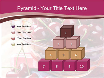 Fresh cherries PowerPoint Template - Slide 31
