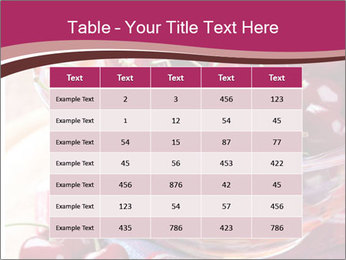 Fresh cherries PowerPoint Template - Slide 55