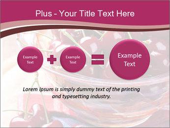 Fresh cherries PowerPoint Template - Slide 75