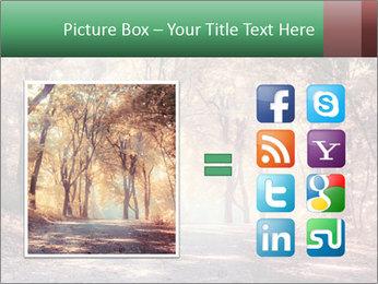 Autumn trees PowerPoint Template - Slide 21