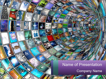 Tunnel PowerPoint Template - Slide 1