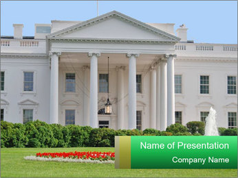 The White House PowerPoint Template - Slide 1