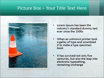 Traffic cone in the road PowerPoint Templates - Slide 13