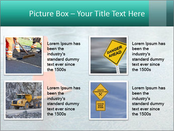 Traffic cone in the road PowerPoint Templates - Slide 14