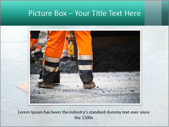 Traffic cone in the road PowerPoint Templates - Slide 16