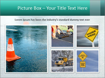Traffic cone in the road PowerPoint Templates - Slide 19