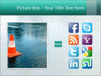Traffic cone in the road PowerPoint Templates - Slide 21