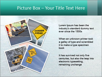 Traffic cone in the road PowerPoint Templates - Slide 23