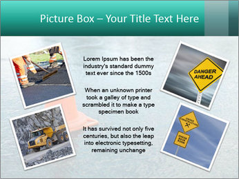Traffic cone in the road PowerPoint Templates - Slide 24
