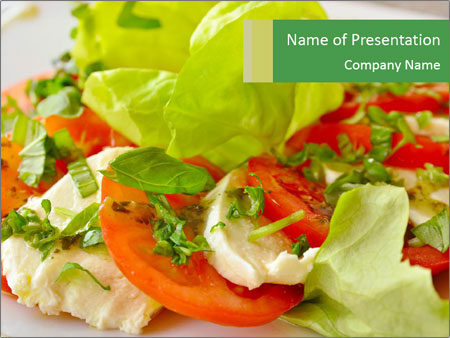 Caprese salad PowerPoint Template