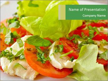 Caprese salad PowerPoint Template - Slide 1