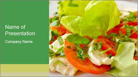 Caprese salad PowerPoint Template