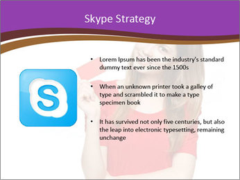 Teenager female PowerPoint Template - Slide 8