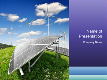 Solar energy panels PowerPoint Template - Slide 1