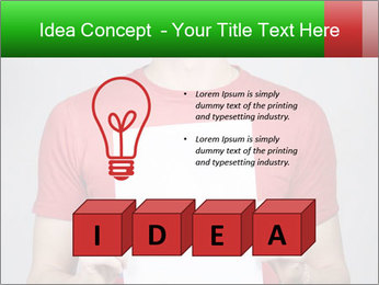 Man in a red shirt PowerPoint Template - Slide 80